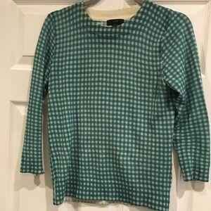 JCrew Tippi sweater in gingham print